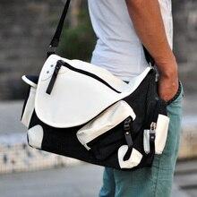 2016 new men's canvas bag New Fashion design Washed Canvas Men's shoulder bags Multi bag  Large canvas bag
