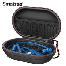 Smatree funda de carga inalámbrica bluetooth auricular bolsa para BeatsX, para Jabra, para Sony, para Jaybird auriculares cargador cajas PU