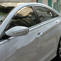For Hyundai Sonata 8 2011 2013 Stainless Steel Window Chrome Cover Sill Lines Car Styling Moulding