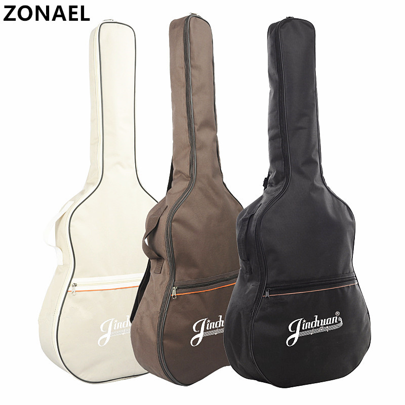 ZONAEL 41 Inch Acoustic Classical Guitar Waterproof Bag Case Backpack Adjustable Shoulder Strap Portable Thicken Padded Black 40 41inch acoustic classical guitar bag case backpack adjustable shoulder strap portable 4mm thicken padded black