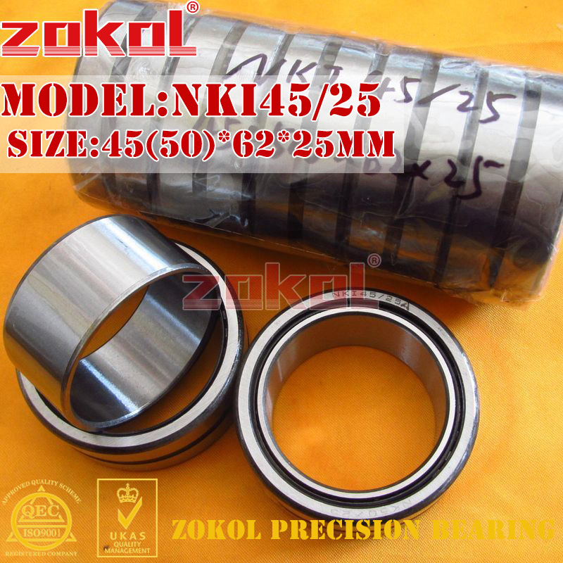 ZOKOL bearing NKI45/25 Entity ferrule needle roller bearing 45(50)*62*25mm 0 25mm 540 needle skin maintenance painless micro needle therapy roller black red