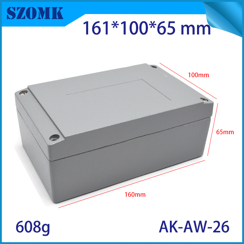 Aluminum waterproof box electric die cast aluminum junction box szomk aluminum waterproof enclosure for pcb design aluminum case цены