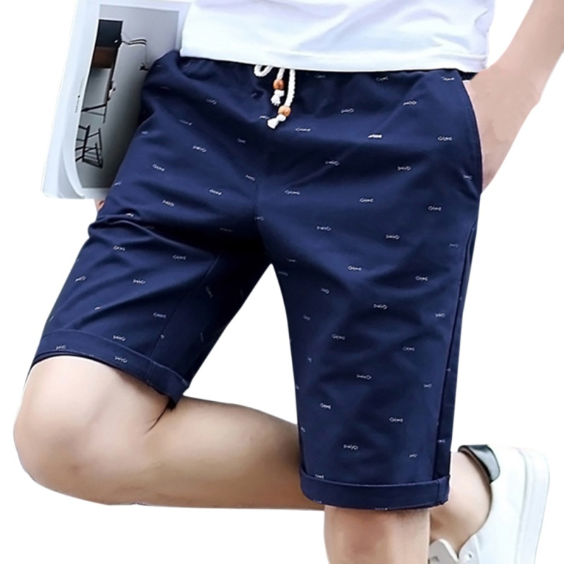 Elastic Waist Men's Shorts Men's Beach Shorts Quick Drying Casual Clothing Shorts Homme Outwear Mens Board Short Plus Size M-4XL