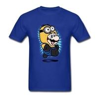 Men Super Minion Mario Tee Shirts CottonSuper Minion Mario O Neck Printed With Healthy Ink Shirts