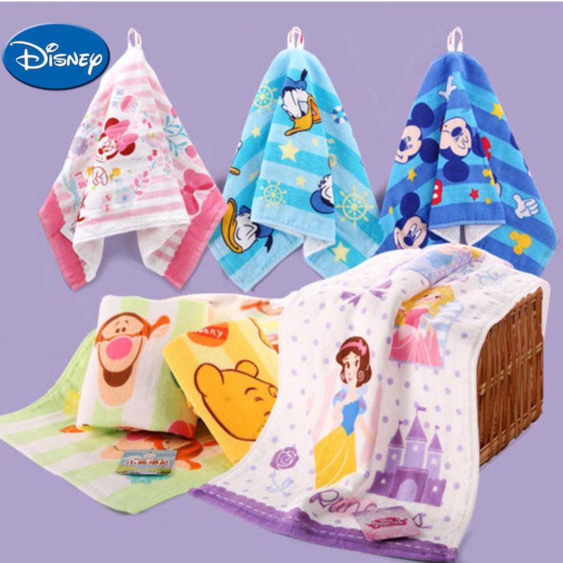 Disney Baby Towel Pure Cotton Children Face Towels Soft Handkerchief  Bath Towel For  Newborns Infants 25*50cm