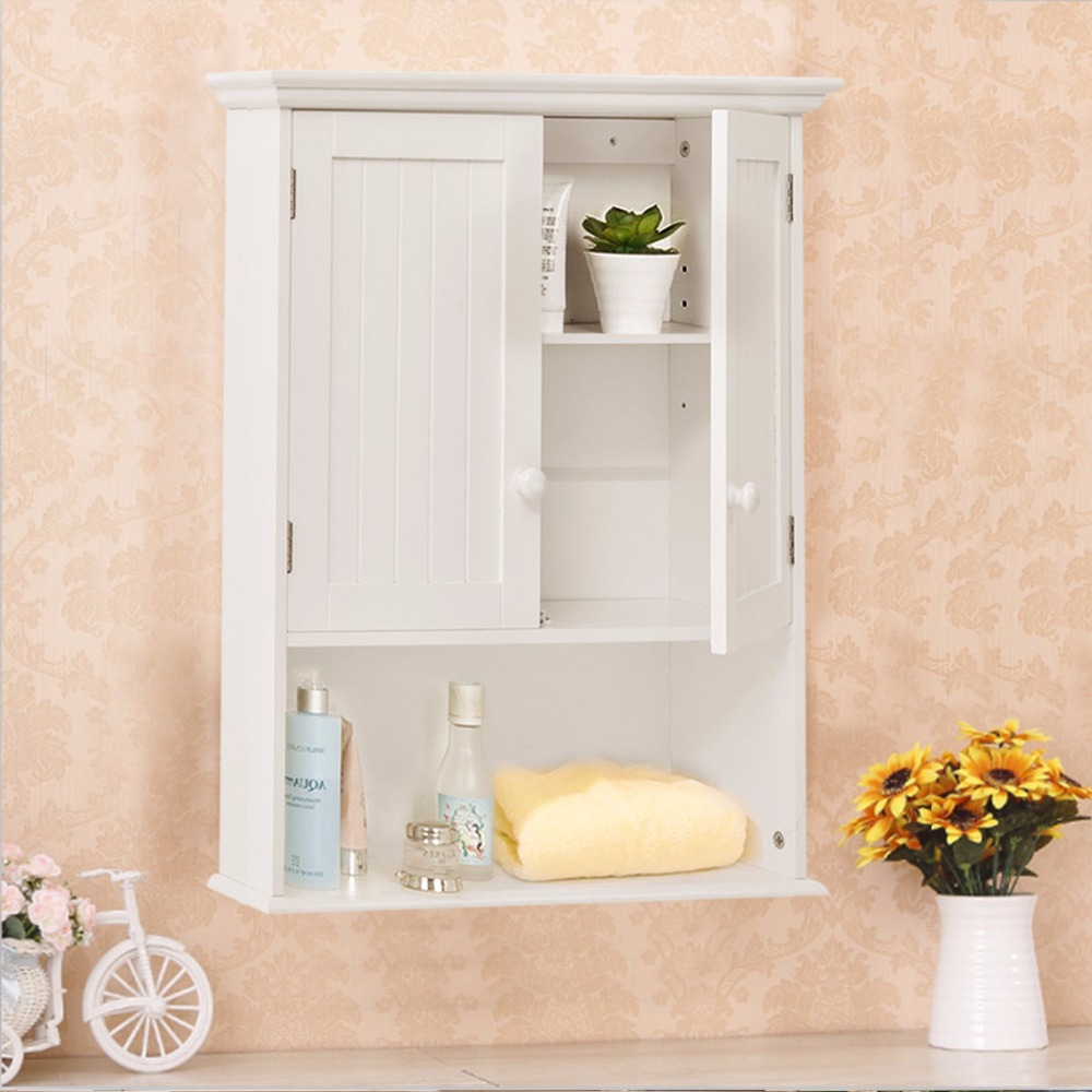 wall mount bathroom cabinet. Giantex Wall Mount Bathroom Cabinet Modern Storage Organizer Medicine Kitchen Laundry White Wood Shelf Cabinets HW53984-in Vanities From
