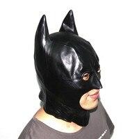 Хэллоуин черное лицо маска Бэтмена костюм для взрослых и детей Полный лица Черноголовых Косплей латекс страшно маска подарок маски для Нов...