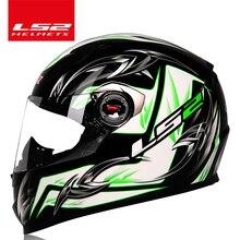 100% oryginalny Wyścigi Motocyklowe Motocross kask LS2 FF358 całą twarz Certyfikat ECE man woman moto casco hełm