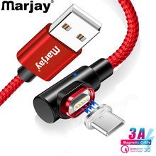 Marjay USB Type C Cable 90 Degree 3A Fast Charging Type-C Magnetic For Samsung S8 S9 S10 Plus Xiaomi mi8 mi9 Magnet USB-C