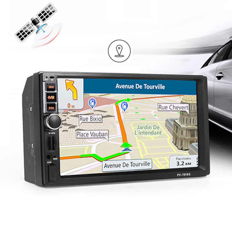 2 din Car Multimedia Player GPS Navigatie Bluetooth Radio AUX mp3 MP4 MP5 Stereo Audio Auto Elektronische autoradio 2din GEEN DVD