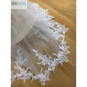 Image 3 - Ngà Tulle V Cổ Tầng Dài A Line Wedding dresses Chapel Train Không Tay Bridal Gown Custom made