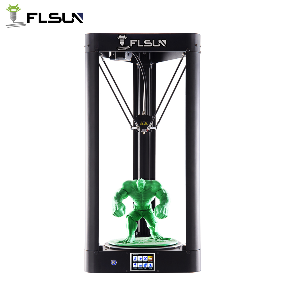 FLSUN-QQ 3D Printer Large Printing Size Pre-assembly High Speed Metal Frame Delta 3d Printer Wifi Control Hot Bed SD Card flsun 3d printer big pulley kossel 3d printer with one roll filament sd card fast shipping