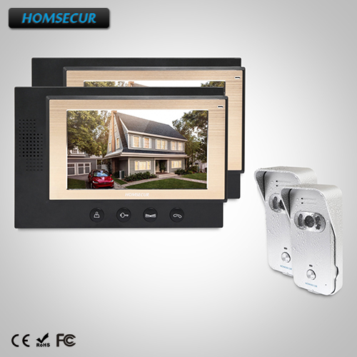 HOMSECUR 7 Wired Video&Audio Home Intercom+Dual-way Intercom for Home Security (TC021-S+TM701-B)HOMSECUR 7 Wired Video&Audio Home Intercom+Dual-way Intercom for Home Security (TC021-S+TM701-B)