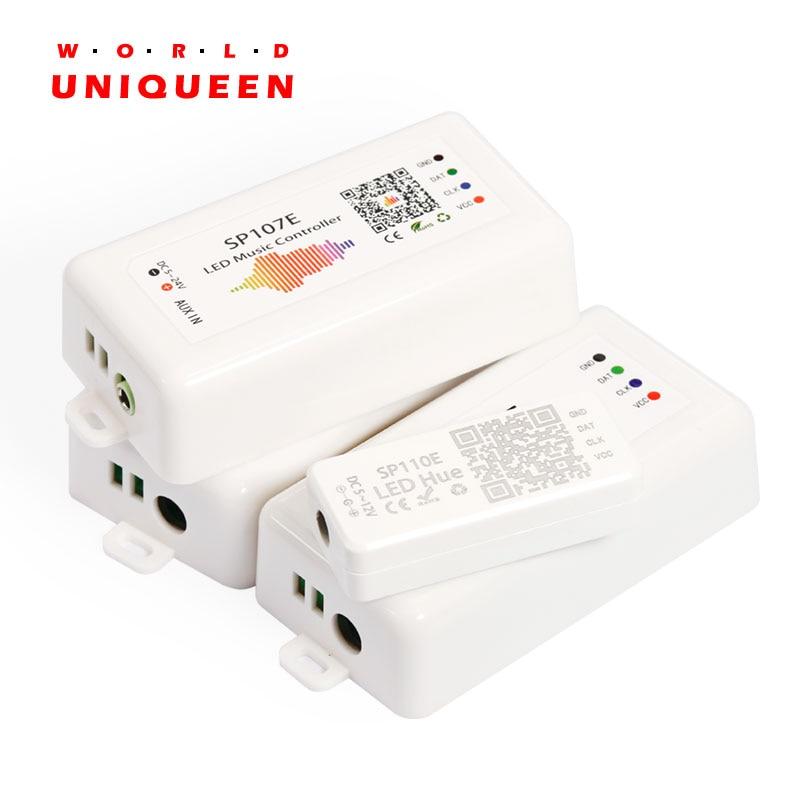 SP105E Bluetooth led pixel strip light controller SP108E wifi WS2812b SK6812 WS2813 controller SP107E SP110E mini controllerSP105E Bluetooth led pixel strip light controller SP108E wifi WS2812b SK6812 WS2813 controller SP107E SP110E mini controller