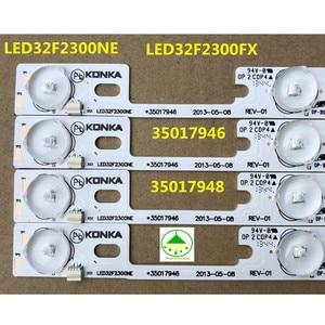 Image 2 - 4 adet/grup yeni ve orijinal Konka için LED32F2300NE LED32F2300FX ışık çubuğu 35017946 35017948 arka lamba LED şerit 6 v