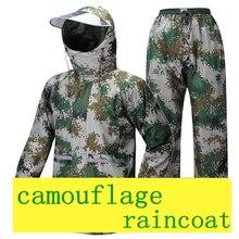 Army style raincoat Camouflage poncho