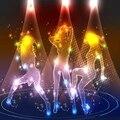 AC90-240V Этап Lighting108 Светодиодов Цвет Освещения RGB дискотека strobe light dj light SMD 5050 стороны Этап эффект огни