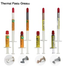300PCS Gray/Sliver/White/Gold Silicone Thermal Heatsink Compound Cooling Paste Grease Syringe for PC Processor цена и фото
