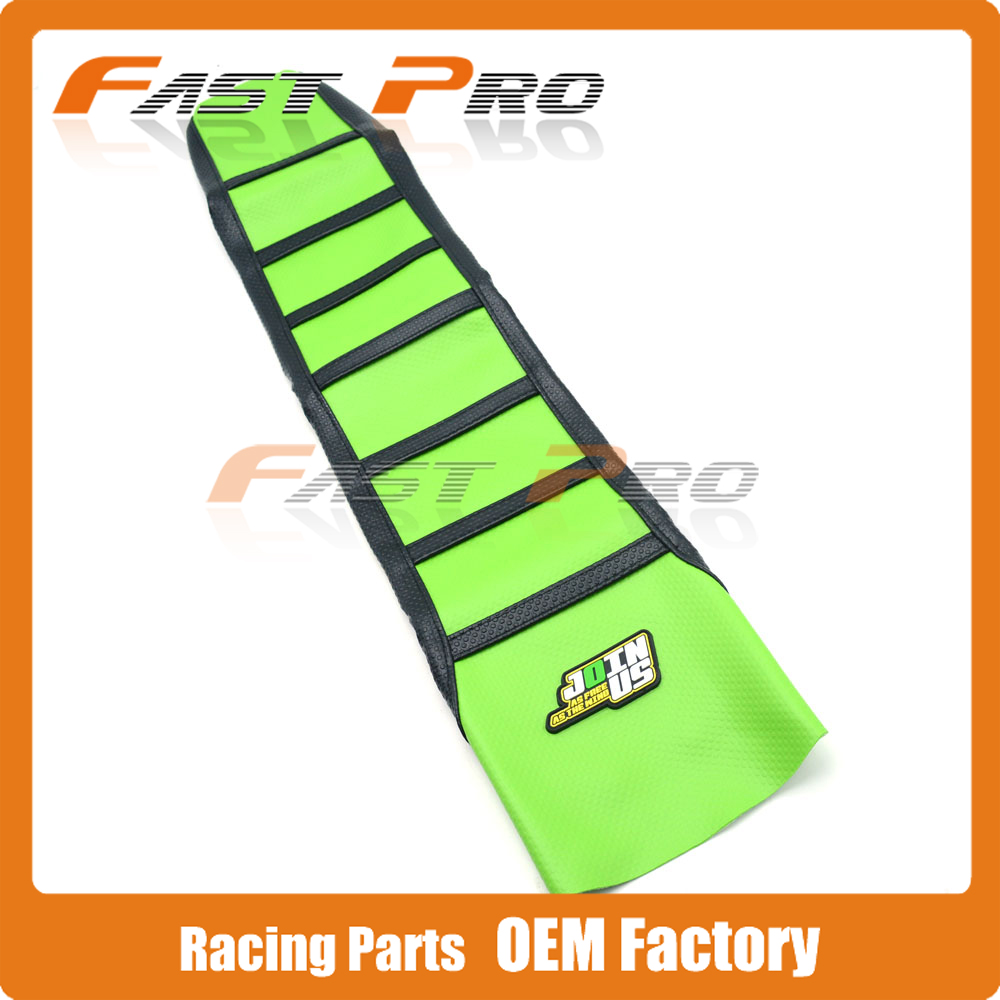 Pro Rib Ribbed Green Gripper Soft Rubber Seat Cover For KXF250 KXF450 KX250F KX450F 2006 2007 2008 Motorcycle