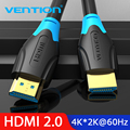 Vention HDMI Cable 2.0 3D 2160P Cable HDMI 1m 2m 5m 3m 10m 15m With Ethernet HDMI Adapter For HDTV LCD Projector HDMI 4K Cable