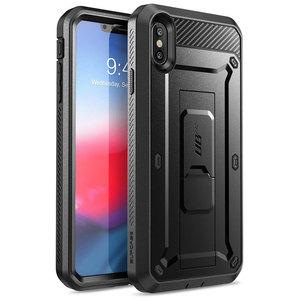Image 2 - SUPCASE dla iPhone Xs Max Case 6.5 cala UB Pro wytrzymała obudowa na cały korpus z wbudowanym ochraniaczem ekranu i podstawką