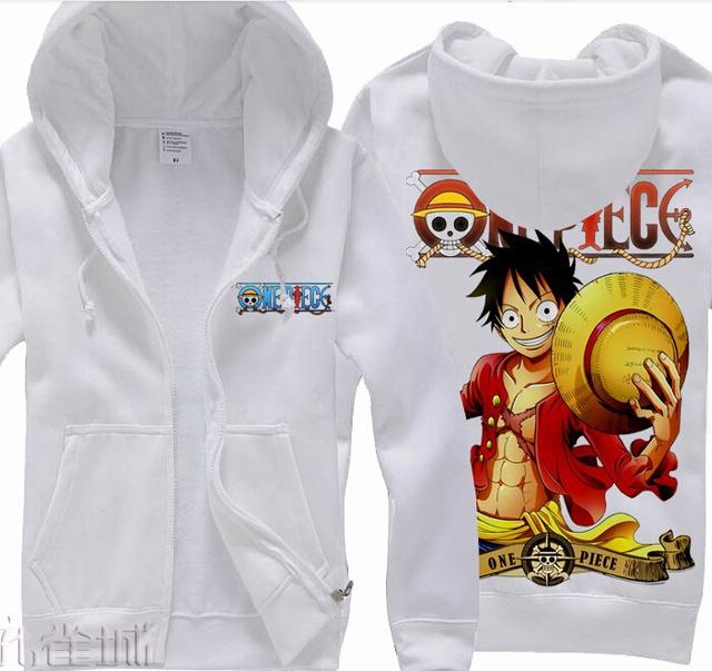 One Piece Monkey D Luffy Long Sleeve Winter Sweatshirts Hoodies For Men