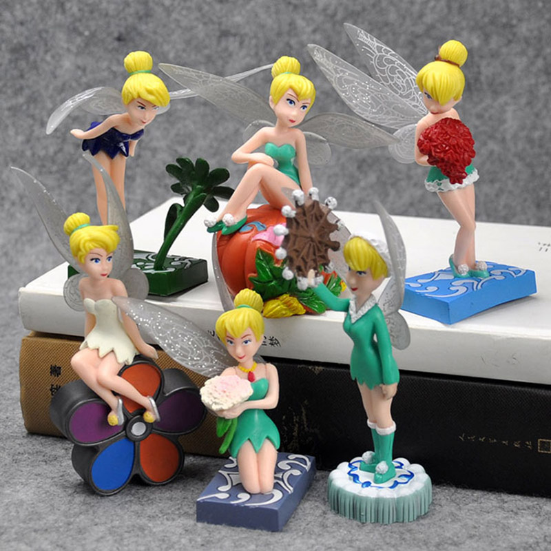 Toys & Hobbies Tinker Bell Fairies Action Figure Miss Bell Princesses Dolls Girls Toys Gifts 6pcs/set 7~12cm Ample Supply And Prompt Delivery