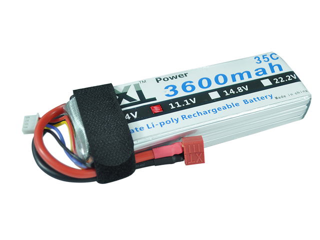 XXL RC Lipo Battery 3600mAh 11.1V 3S 35C-70C For T-REX 550E M3D-500 Helicopter Quadcopter Airplane DJI Drone