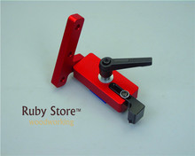Flip Stop Aluminium Miter T-Track Stop with Adjustable Scale Mechanism (Red Series), Only Suitable for 45mm T-track цена