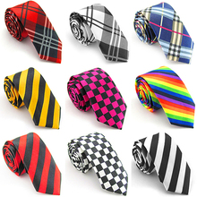 Casual Patterns Printed Smooth Necktie Gift Narrow Plaid Stripe Leopard Tie smt87