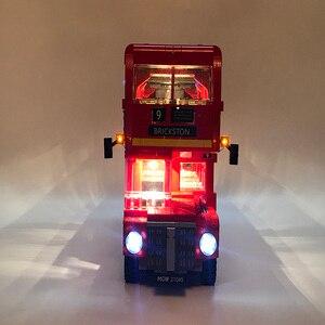 Image 4 - Led 라이트 세트 레고 테크닉 10258 런던 버스 빌딩 벽돌 호환 21045 크리에이터 시티 블록 완구 선물 (led 라이트 만)