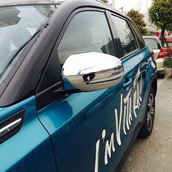 اكسسوارات لسوزوكي فيتارا اسكود 2015 2016 2017 ABS الكروم الجانب الباب مرآة يغطي الخلفي مرآة حماية سيارة التصميم 2 قطع