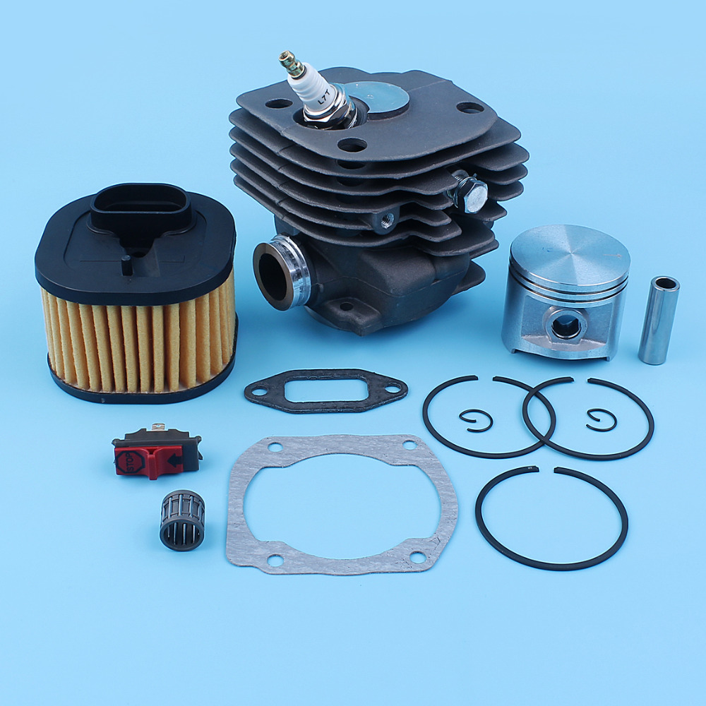 Nikasil Plated Cylinder Piston Air Filter Kit For Husqvarna 372 XP 365 371 362 372 50mm Chainsaw Top End Kit WT Pression Valve цена