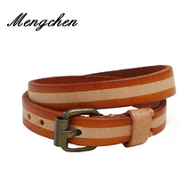 New Design Multilayer Genuine Leather Bracelets Punk Wide Cuff Bracelets Bangles for Women Men Jewelry Wristband new luxury cuff design high qualtiy carter bracelets