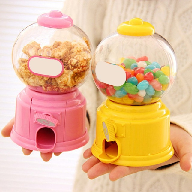 14.5*8.7cm Cute Sweets Mini Candy Machine Bubble Gumball Dispenser Coin Bank Money Saving Box Baby Gift Toys