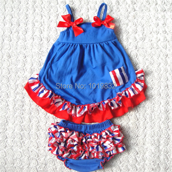 dcdb786a47f4 Adorable Baby 4th Of July Outfit Cute Baby Cotton Clothing Set Swing ...