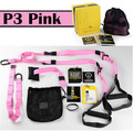 TRX Fitness Workout Suspension Trainer Kit PINK Band Yoga Belts Army Training resistance Straps Body Building Home Gym Equipment