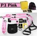 Trx kit trainer suspensão banda rosa de treino de fitness yoga cintos exército tiras de resistência de treinamento do edifício do corpo equipamentos de ginástica em casa