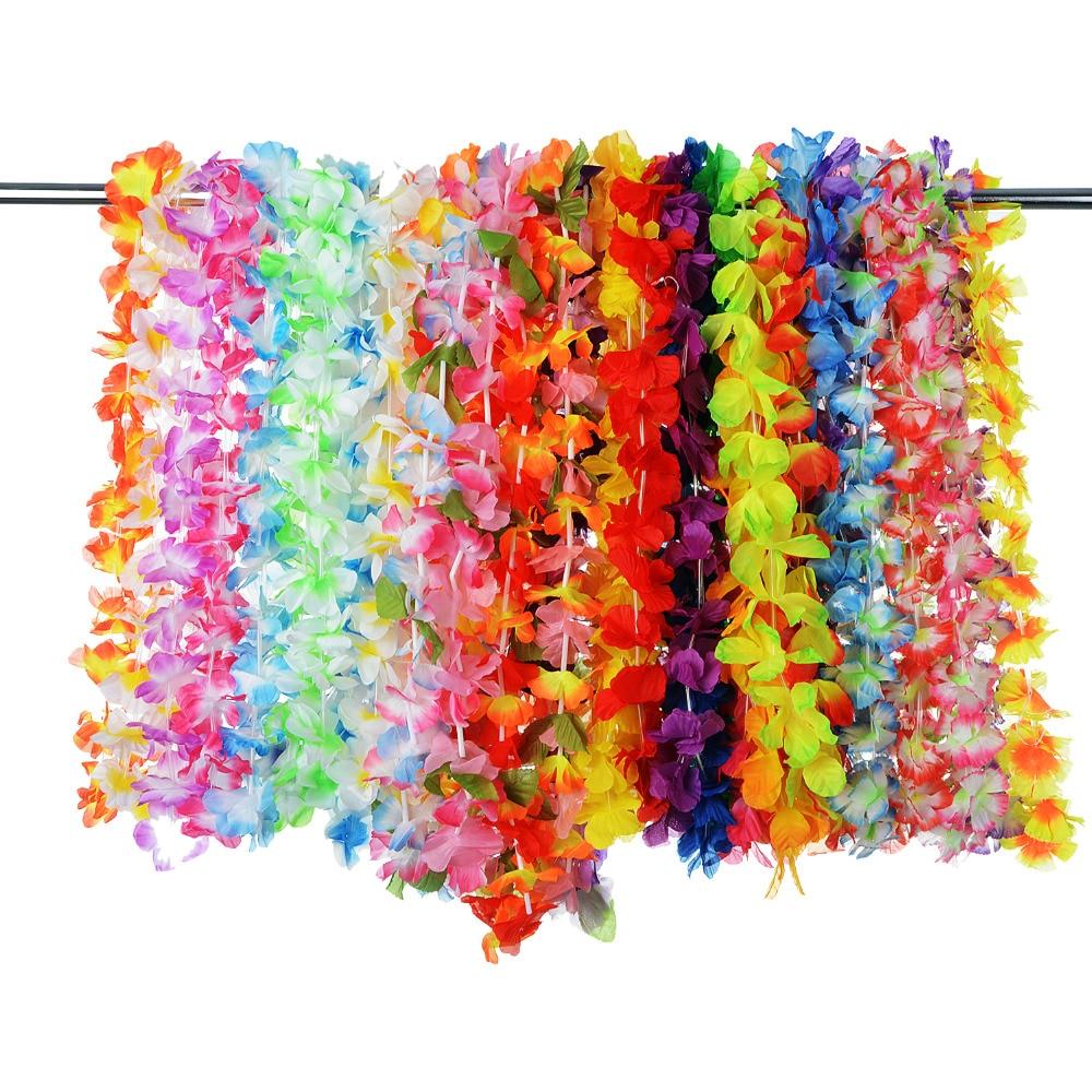 36 stuks kunstmatige tropische Hawaiiaanse bloemen mooie zijden bloem - Feestversiering en feestartikelen