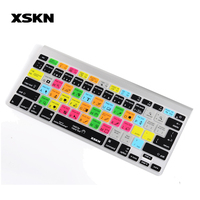 For Photoshop CC Design PS Functional Hotkeys Silicone Keyboard Cover Skin For Macbook XSKN Brand US