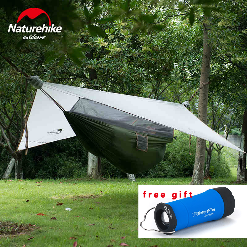 2016 Brand NatureHike Outdoor Hammock 1 Person Only 1.5kg tree tent with Bed Net Sleeping Tent Ultralight Hanging Tent high quality outdoor 2 person camping tent double layer aluminum rod ultralight tent with snow skirt oneroad windsnow 2 plus