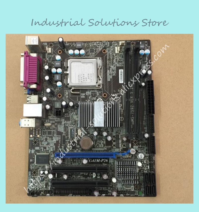 цены  G41M-P26 Desktop motherboard g41 A 775 DDR3 motherboard belt printer interface well 100% tested perfect quality