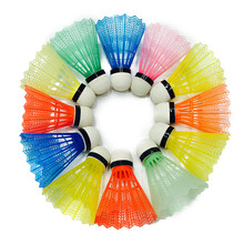 12Pcs Nylon Feather Shuttlecocks Training Plastic Badminton with Great Stability and Durability for Indoor Outdoor Sports(China)