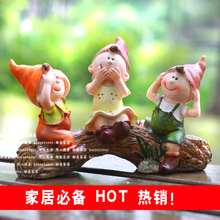 Lovely living room decoration resin wedding gift decor accessories Home Furnishing bibelot three doll
