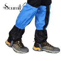 Soumit Unisexe Neige Boot Couvre Legging Gaiters Étanche Coupe-Vent Chaud Jambe Guêtre Chaussures Couverture Couvre pour Homme Femmes Bottes