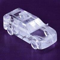 Große Range Rover K9 Kristall Auto Modell Figuren Desktop Dekorative Mode Hochzeitsdekoration Kristall Auto Modell Kristall