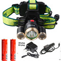 6000LM LED Headlamp CREE XML T6 4 Modes Rechargeable Headlight Head Lamp Spotlight +2X18650 Battery +charger For Hunting
