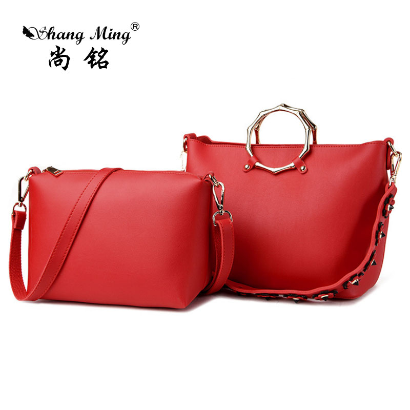 2017Vintage Women's Composite Bag Ladies Messenger Bag Female 2 Sets Shoulder Bag Handbag PU Leather Clutch Bolsa Feminina Bags new fashion women pu leather shoulder bags vintage tassel female messenger bag ladies handbag clutch bags bolsa feminina dec28