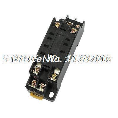 Подробнее о 8 Pins Plug Screw Terminal PYF08A Power Relay Socket Base Holder for MY2 free shipping 2pcs 8 pin power timer relay socket base holder p2cf 08 for h3cr 08