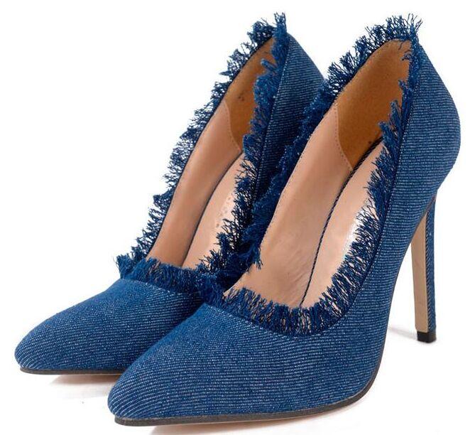 Popular Blue Jean Heels-Buy Cheap Blue Jean Heels lots from China ...